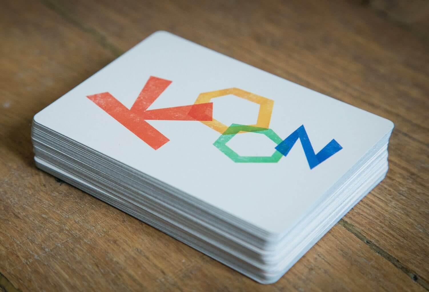 Kooz, le jeu de cartes. Première vue du prototype (paquet)
